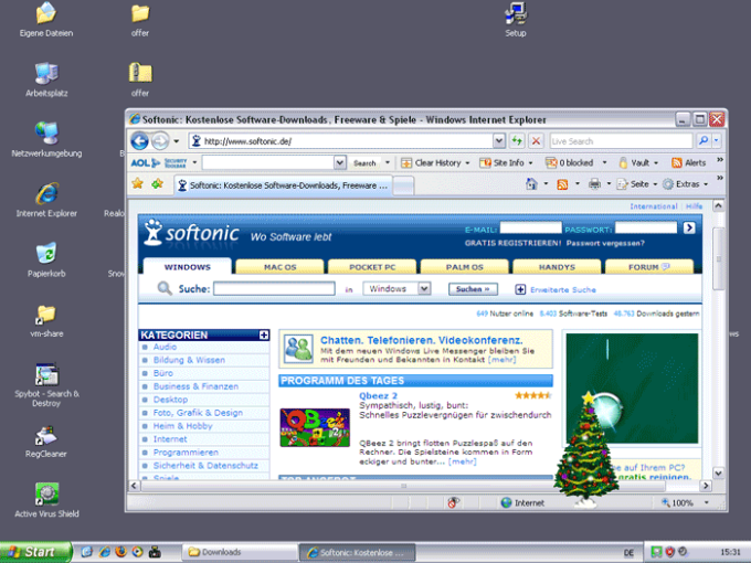 Desktop Christmas Tree
