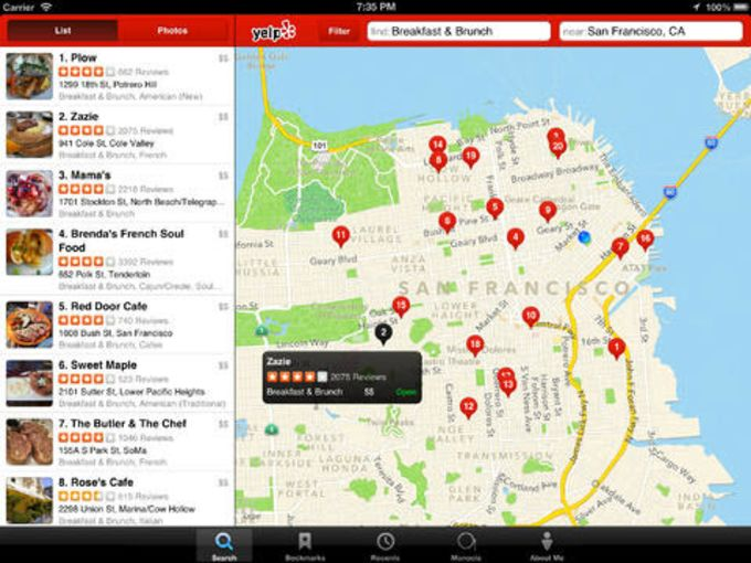 Yelp Food Delivery  Services