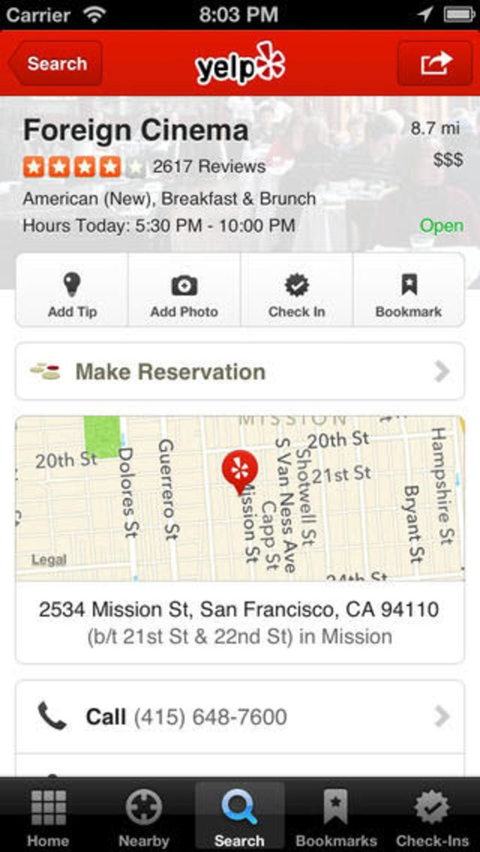 Yelp - Avis de Restaurants