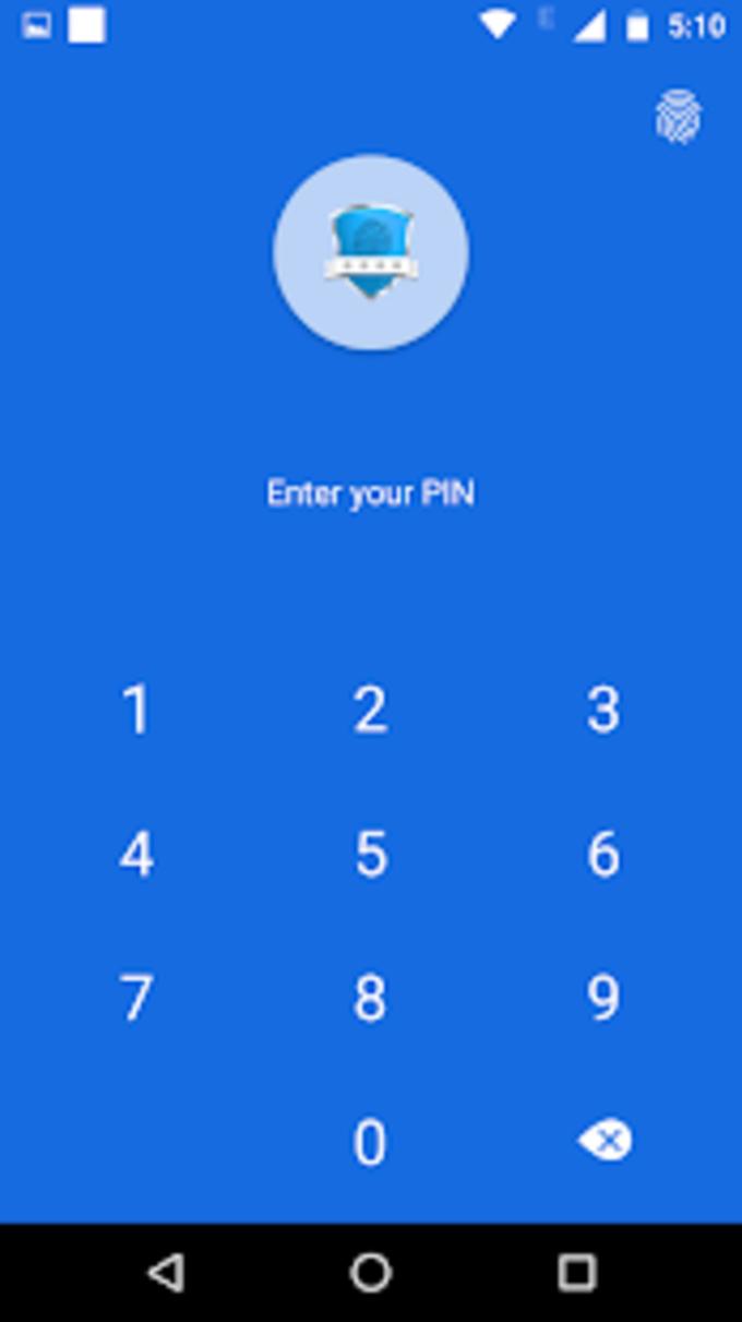 App lock  Real Fingerprint Pattern  Password