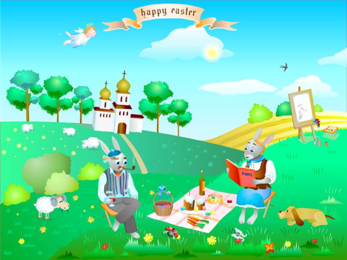 Easter Rabbits Screensaver