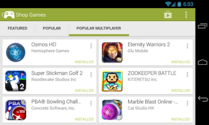 Google Play Jeux