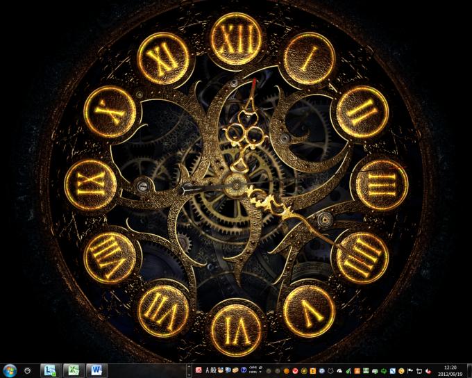 Mechanical Clock 3D Screensaver