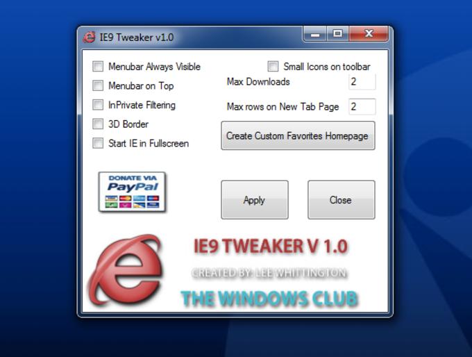 IE9 Tweaker