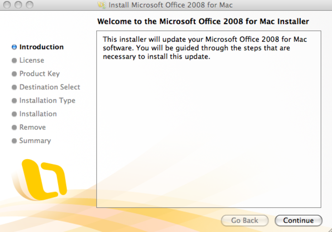 Microsoft Office 2008 Update