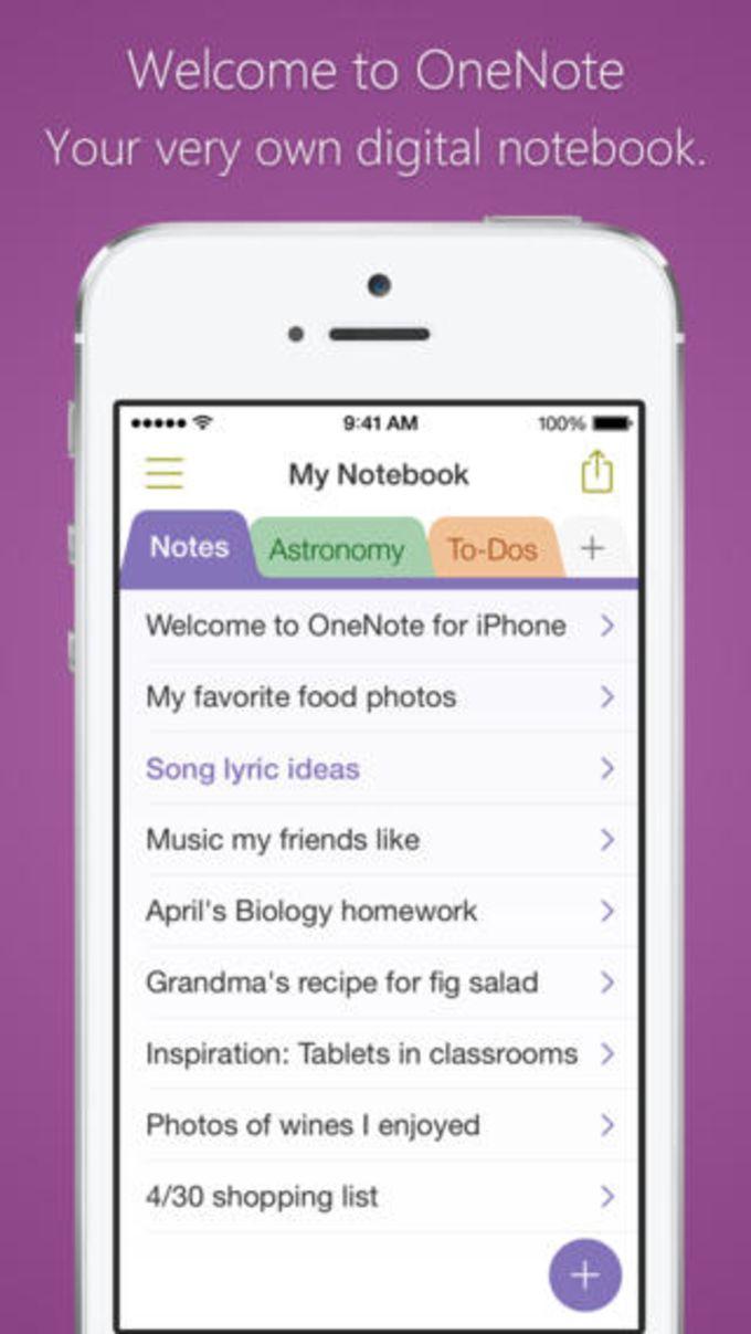 Microsoft OneNote für iPhone