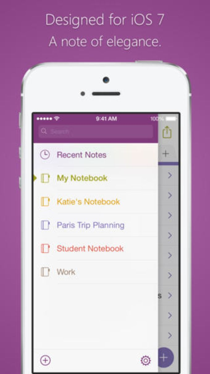 Microsoft OneNote pour iPhone