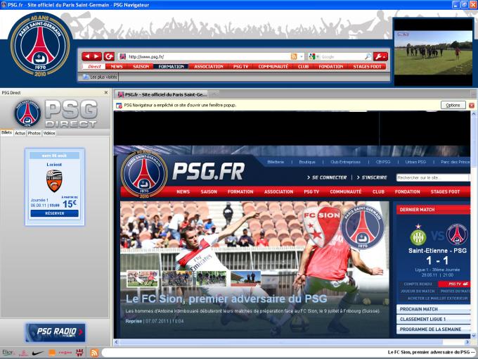 PSG Navigateur