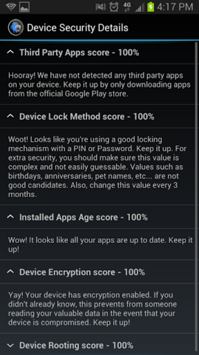 Android Security Score