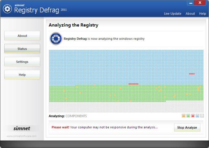 Simnet Registry Defrag 2011