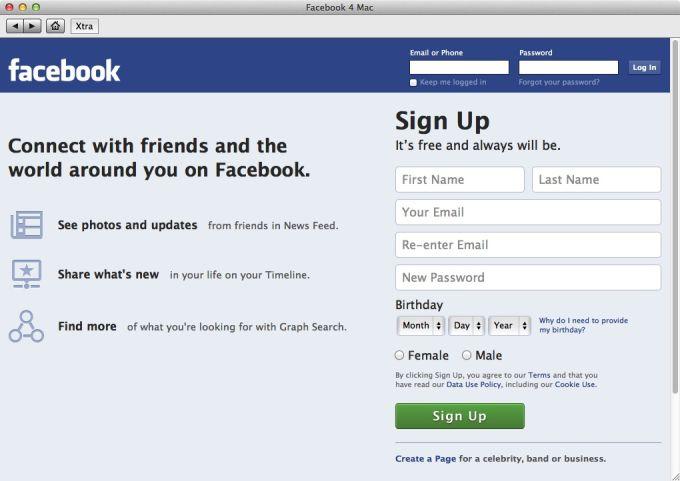 Facebook 4 Mac (Mac) - Download