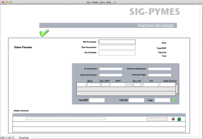 Sig Pyme Advance para Filemaker e Ipad