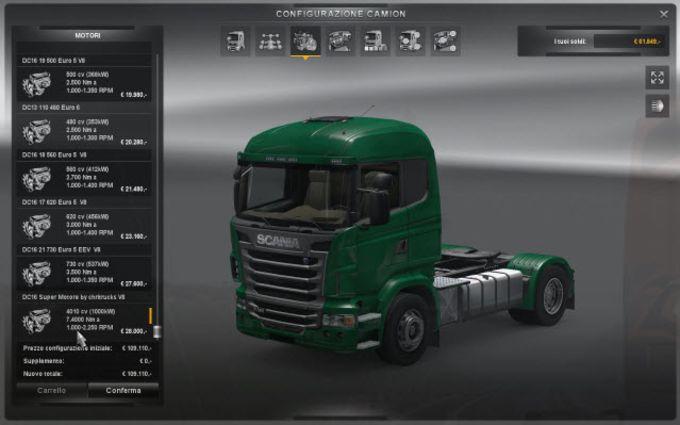 euro truck simulator 2 nouveau moteur scania t l charger. Black Bedroom Furniture Sets. Home Design Ideas