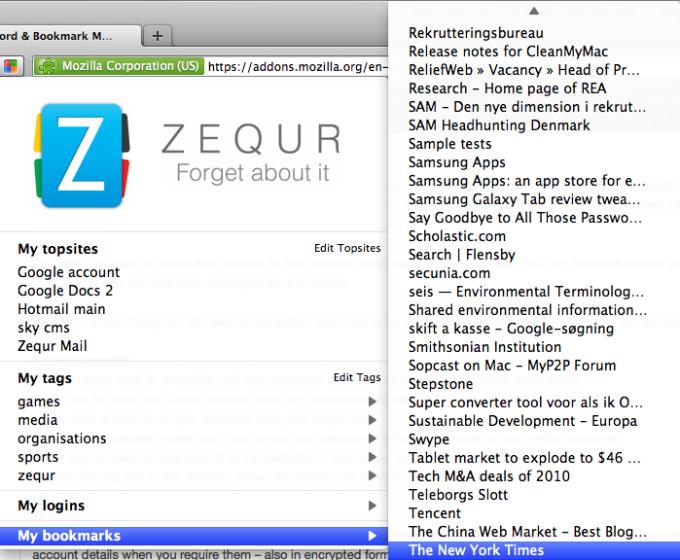 Zequr for Firefox