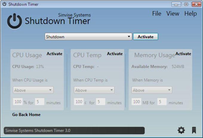 Sinvise Shutdown Timer