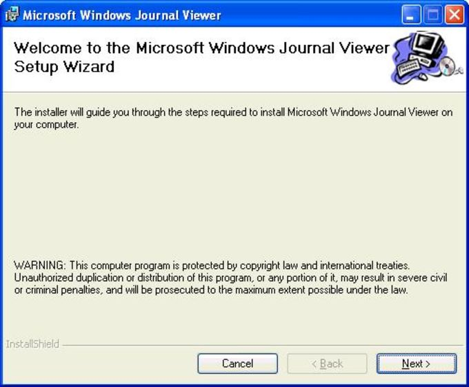 Microsoft Windows Journal Viewer