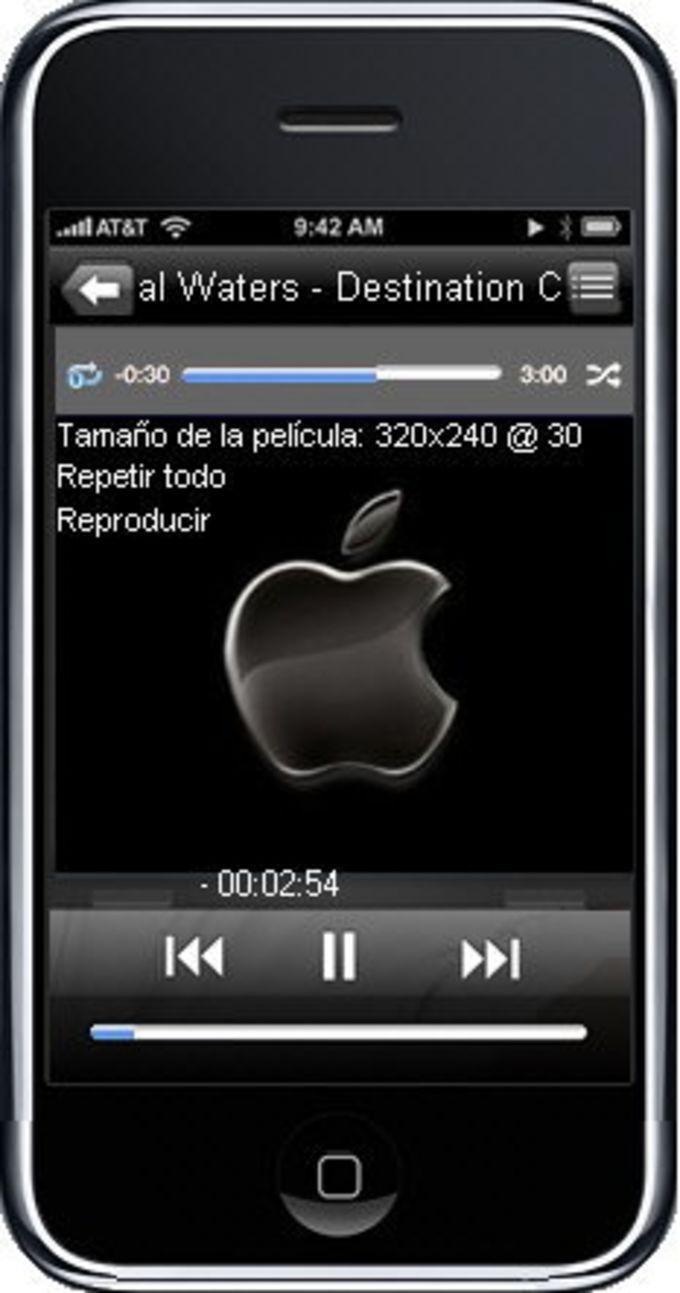 iPhone 3G BSPlayer skin