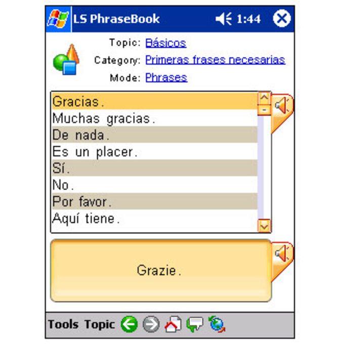 LingvoSoft Talking PhraseBook 2008 Spanish-Italian