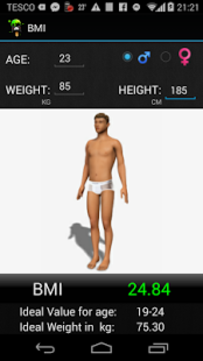 BMI 3D Calculator