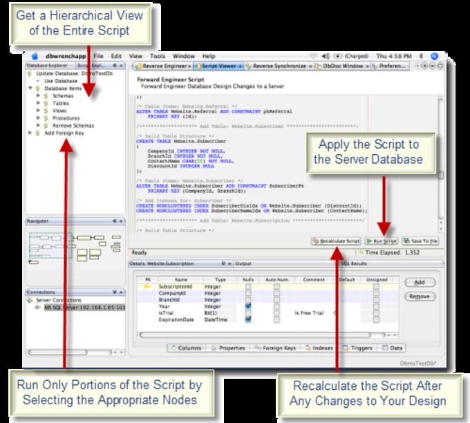 DbWrench Database Design