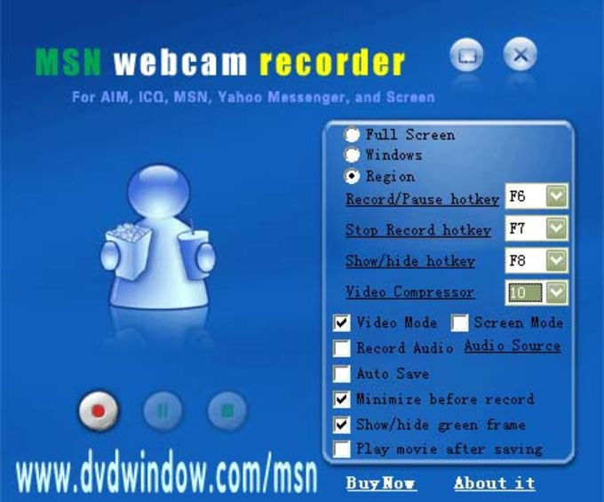 MSN Webcam Recorder