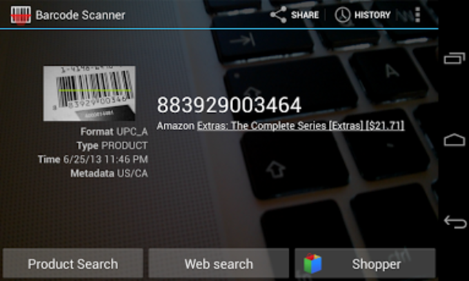 Barcode Scanner na Android - Download