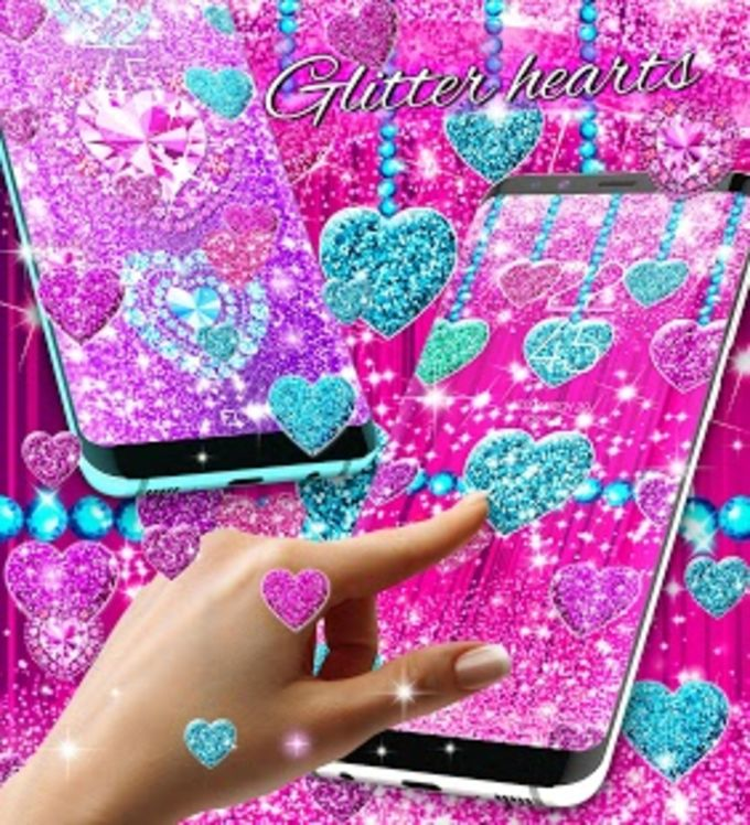 2018 Glitter hearts live wallpaper