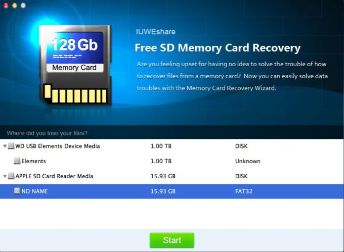 Mac SD Memory Card Recovery