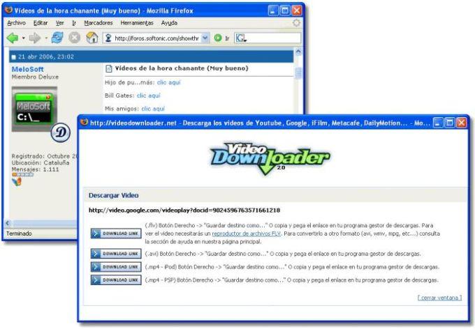 Firefox VideoDownloader