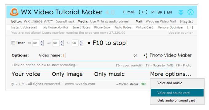 WX Video Tutorial Maker