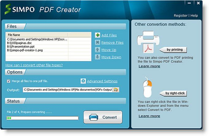 Simpo pdf creator download quickly convert documents to pdf freerunsca Images