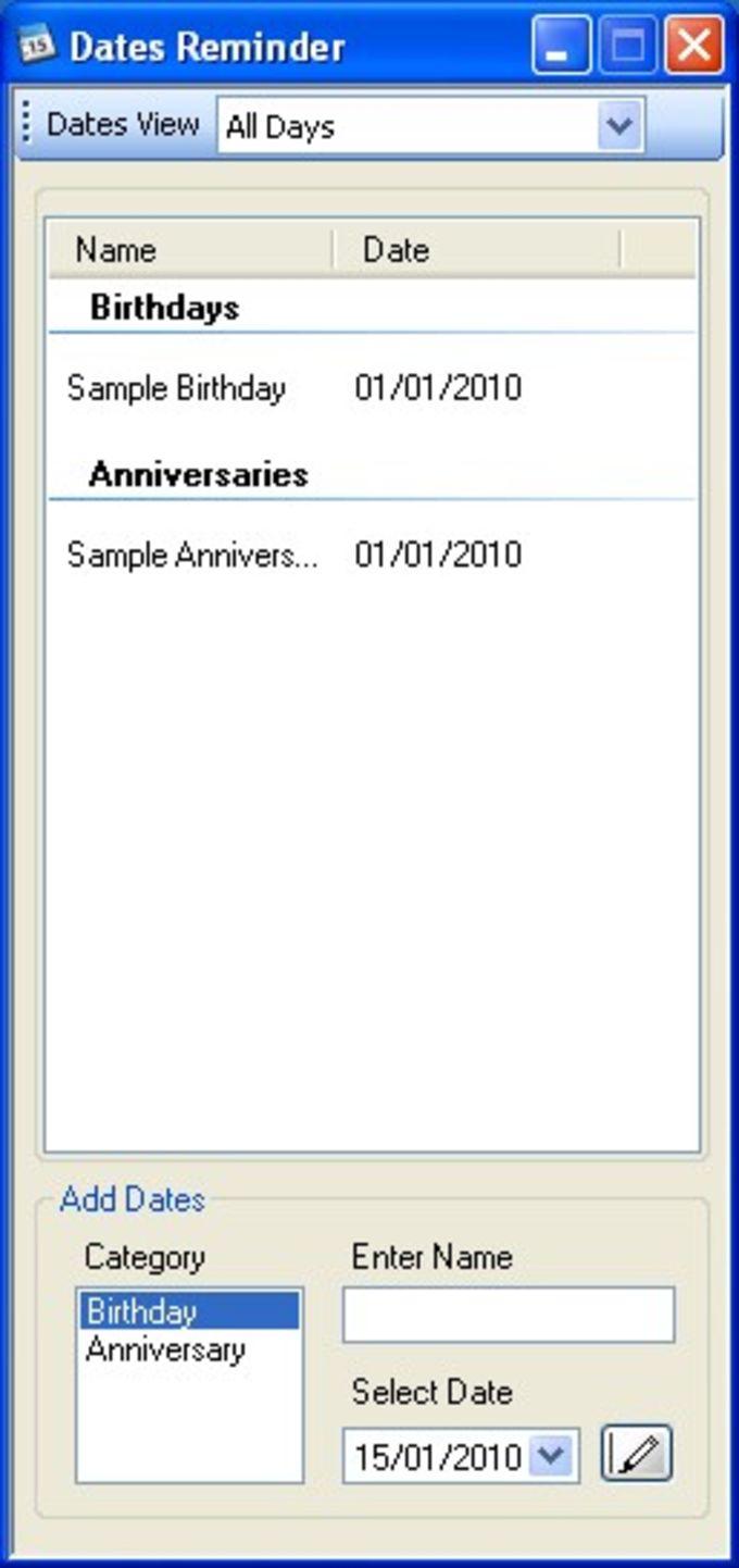 Dates Reminder