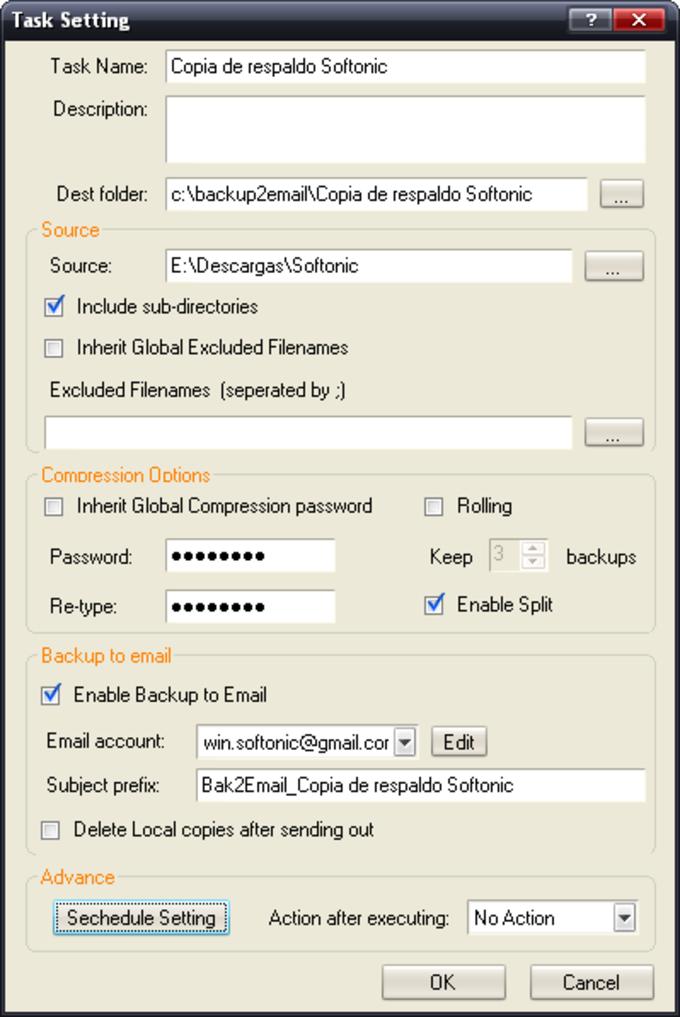 Backup2Email