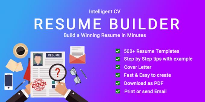 resume builder cv maker app free cv templates 2019 for android
