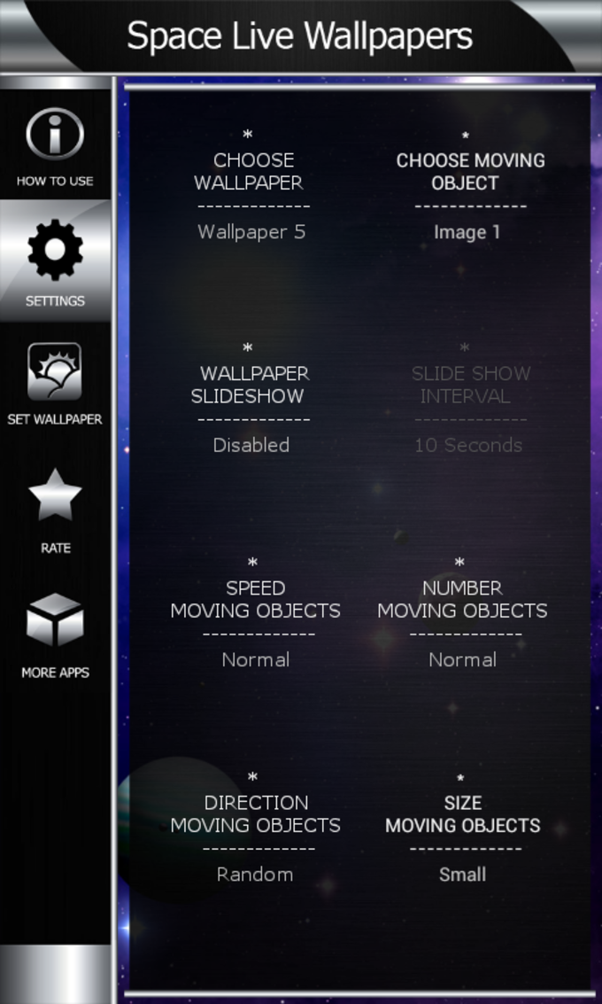Space Live Wallpapers