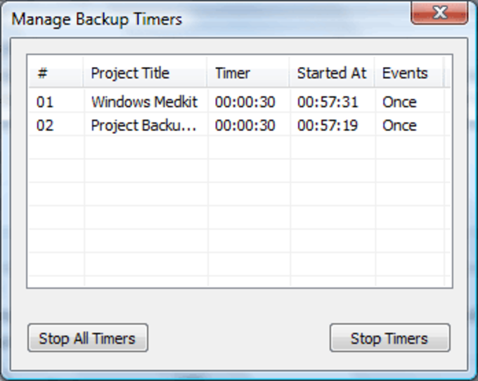 Project Backup Manager