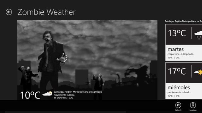 Zombie Weather para Windows 10