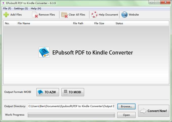 PDF to Kindle Converter