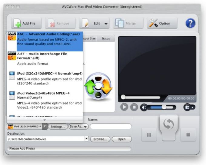 AVCWare Mac iPod Video Converter
