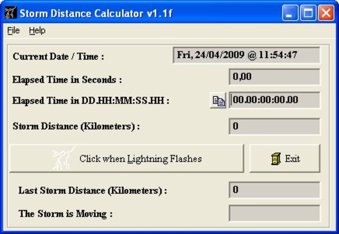 Storm Distance Calculator