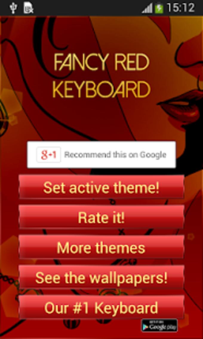 Fancy teclado Red