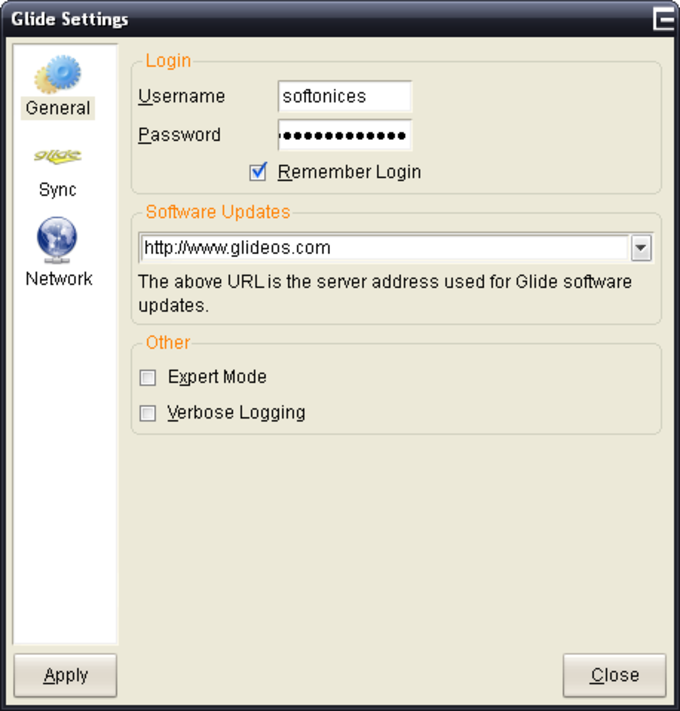 Glide Desktop Applications