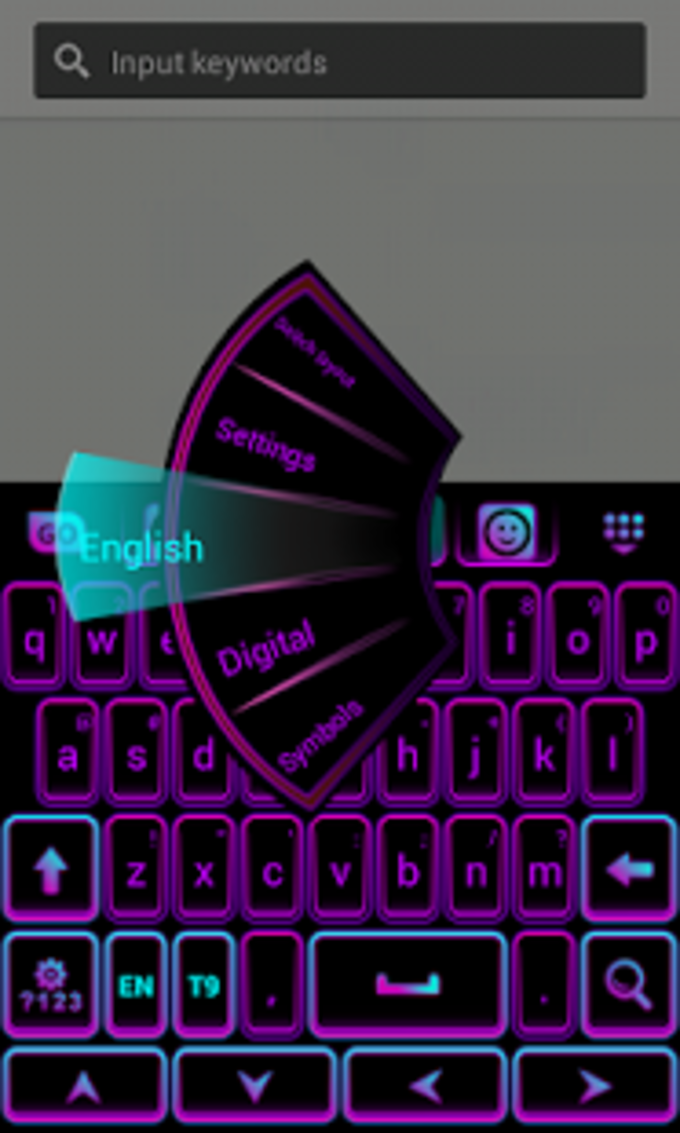 Color de teclado Neon Purple