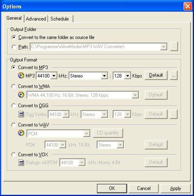 Alive MP3 WAV Converter