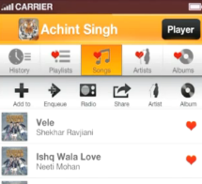 Gaana for java download listen to free music on your java phone ccuart Gallery