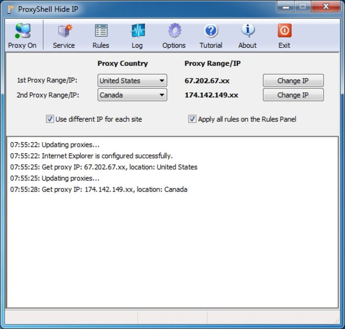 ProxyShell Hide IP