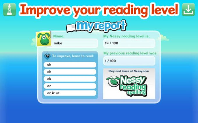 Make reading practice fun: nessy reading and spelling review.