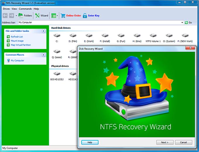 NTFS Recovery Wizard