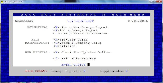 Auto Body Estimator 35