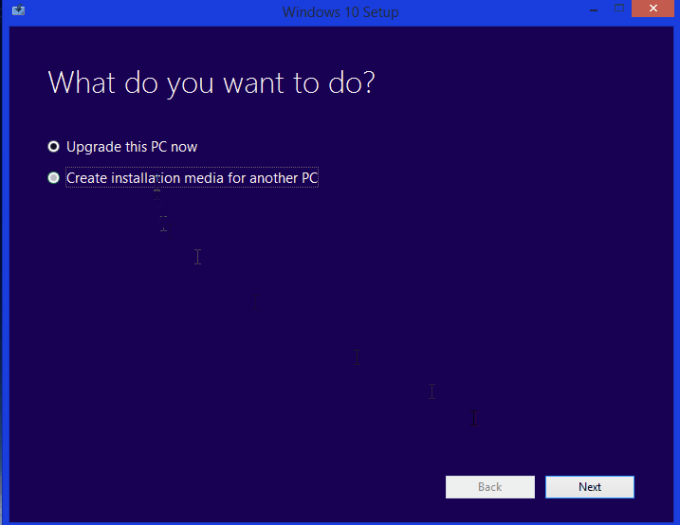 Windows Media Creation Tool